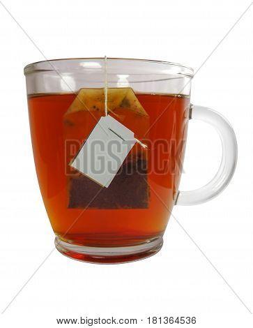 Glass Teacup With Teabag