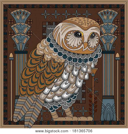 Splendid Owl Coloring Page
