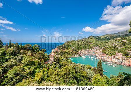Portofino village on Ligurian coast in Italy