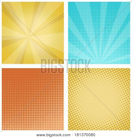 Comic background in retro pop art style. Stock vector illustration.