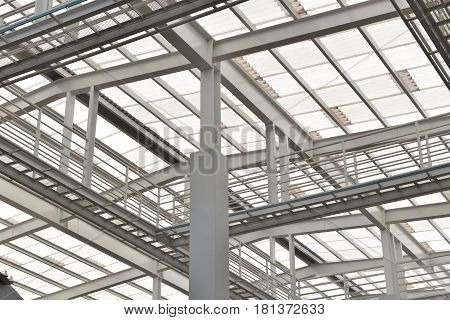 Steel Structure Roof, Glasses, Solar Cell, Supported