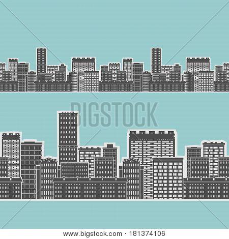 Seamless Element Urban House Vector Illustration eps 8 file format