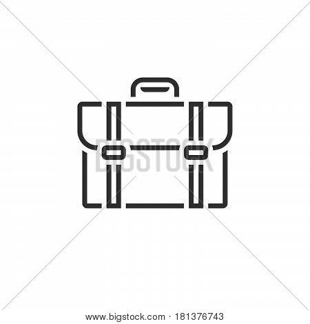 Briefcase Line Icon, Outline Portfolio Vector Logo, Linear Pictogram Isolated On White, Pixel Perfec