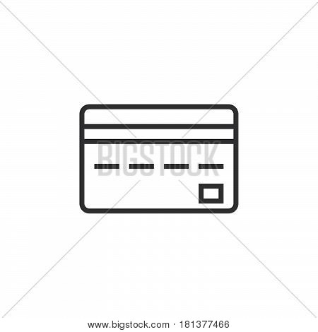 Credit Card Line Icon, Outline Vector Logo, Linear Pictogram Isolated On White, Pixel Perfect Illust