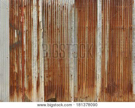 Rusty Corrugated Iron Metal, Zinc Wall, Background