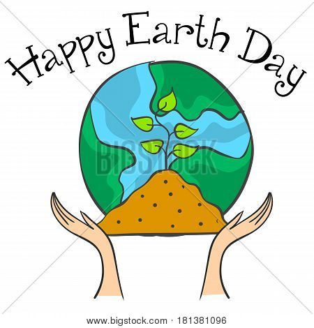 Collection stock earth day style vector illustration