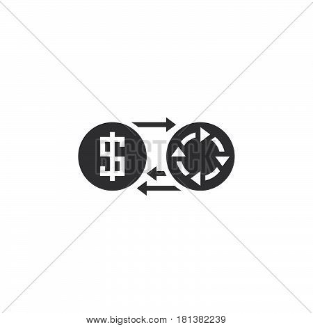 Profit Icon Vector, Money Turnover Solid Logo, Pictogram Isolated On White, Pixel Perfect Illustrati