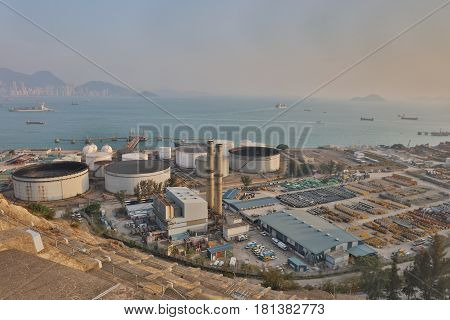 The Oil Depot At Nam Wan Hk