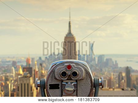 Empire State Building In New York City, Usa