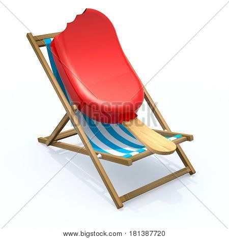 Ice Lolly That Rest In Beach Chair