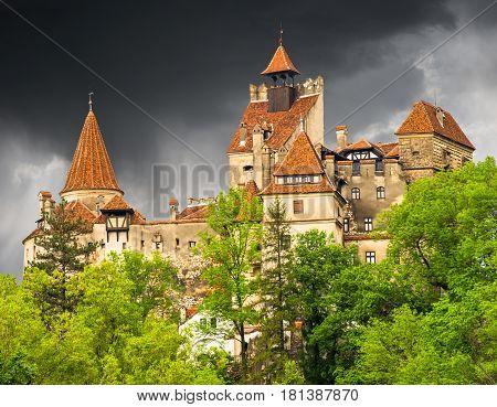Dracula castle in Bran town, Transylvania, Romania, Europe