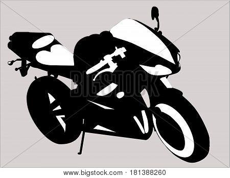Motorbike silhouette. Vector illustration on white background