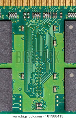 Detailed shot of a printed circuit board