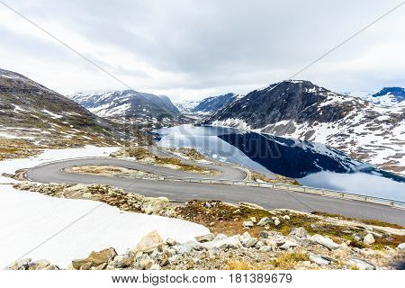 Djupvatnet Lake And Road To Dalsnibba Mountain Norway