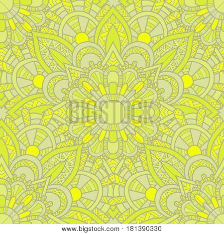 Seamless Pattern Mandala Ornament.