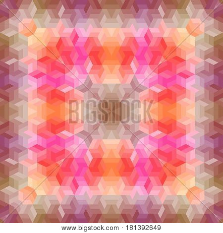 Seamless pattern of geometric shapes. Colorful mosaic backdrop.