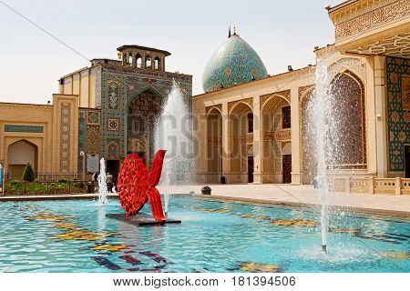 In Iran The  Old    Fountain  Mosque