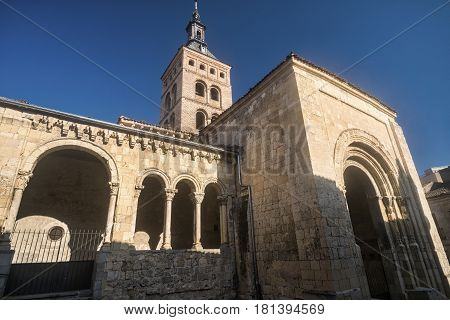 Segovia (Castilla y Leon Spain): exterior of the medieval church of San Martin