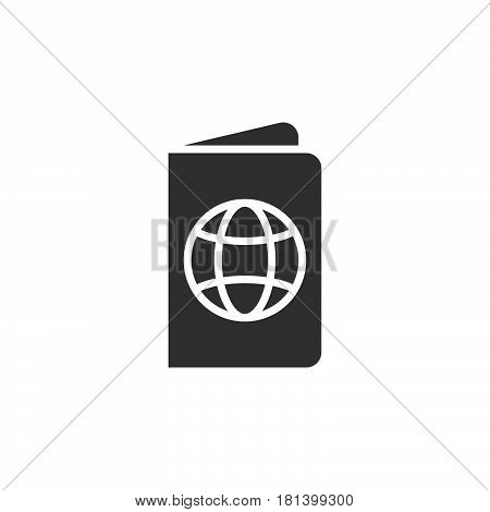 Passport Icon Vector, Official Document Solid Logo, Pass Pictogram Isolated On White, Pixel Perfect
