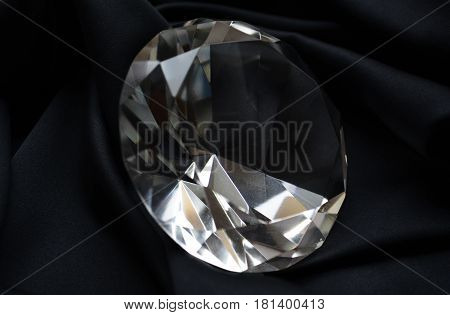 large diamond on a black background , gemstone