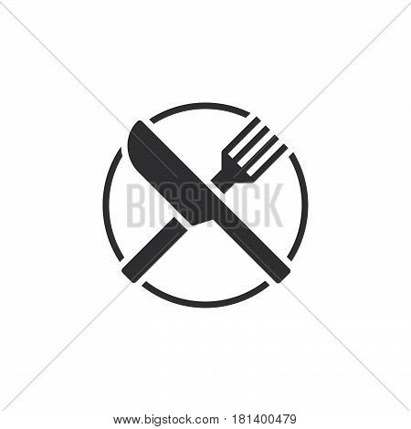 Fork And Knife Icon Vector, Dishware Solid Logo, Pictogram Of A Restaurant  Isolated On White, Pixel