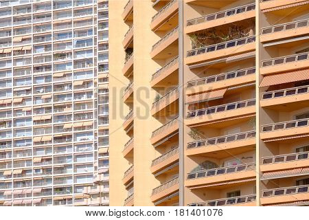 two different types of Monaco apartments both with balconys