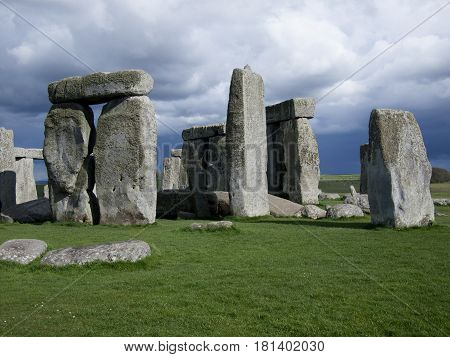 Stonehenge, a stone tourist attraction English heritage site