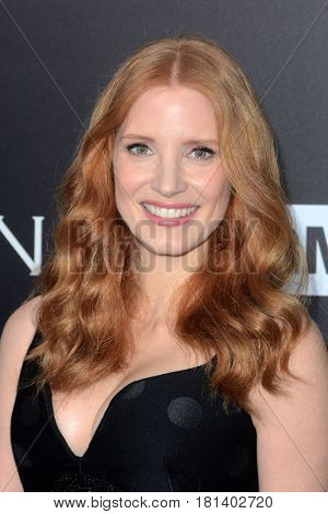 LOS ANGELES - APR 3:  Jessica Chastain at the AMC's