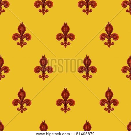 A seamles background featuring a pattern of fleur se lis