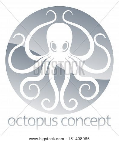 An abstract illustration of an octopus circle concept design