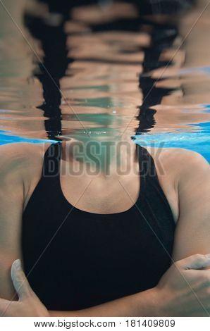 Depersonalization, Blue Background, Underwater Shoot, Inside The Pool