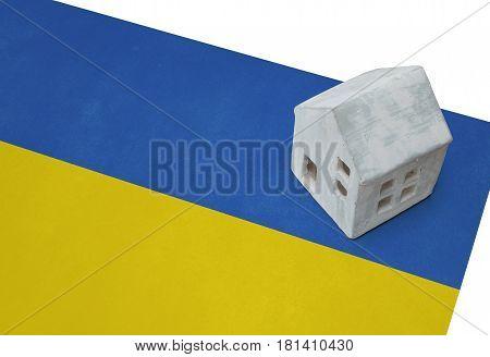 Small House On A Flag - Ukraine