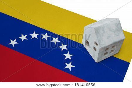 Small House On A Flag - Venezuela