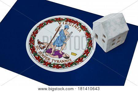 Small House On A Flag - Virginia