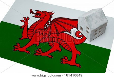 Small House On A Flag - Wales