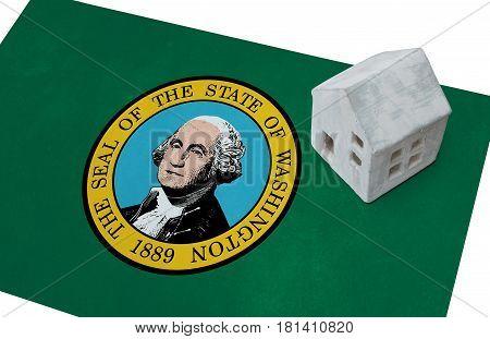 Small House On A Flag - Washington