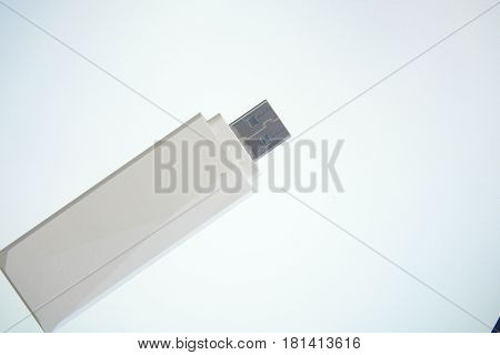 A usb internet card isolated on white background, flash, data