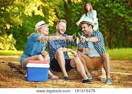 Friends Enjoying Nature