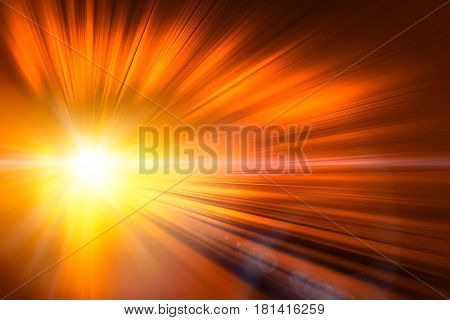 High speed business and technology concept Acceleration super fast speedy motion blur of light ray abstract for background design.