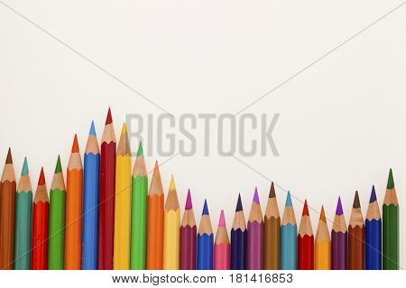 lots of colorful crayons