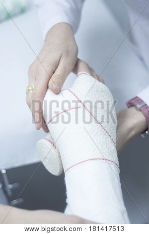 Doctor Patient Plaster Cast