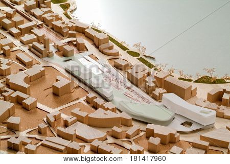 Site Surrounding Model For Architectural Presentation