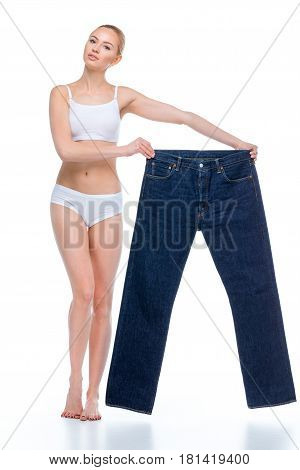 Woman With Oversized Jeans