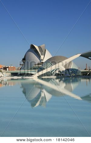 View of Hemisferic and Palau in the City of Arts and Sciences