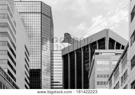 Business In Denver In Monochrome