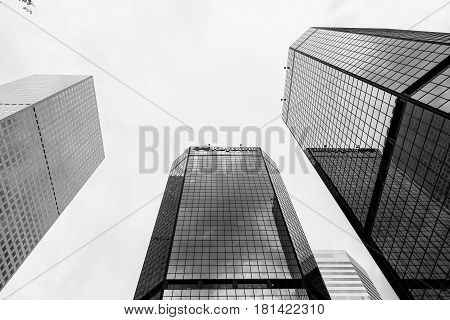 World Trade Center Denver In Monochrome