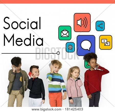 Social Media Communication Conncetion Concept