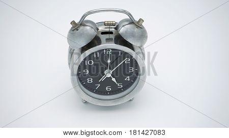 Photo first floor background crome vintage alarm clock