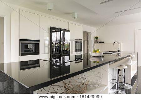 Kitchen Island In Luxurious Interior
