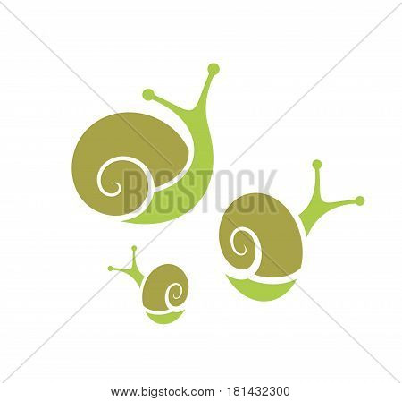 Abstract snails on white background. (EPS 10)